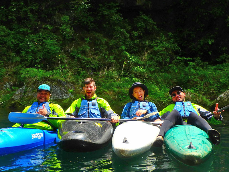 Golden Week Kayaking in Okutama