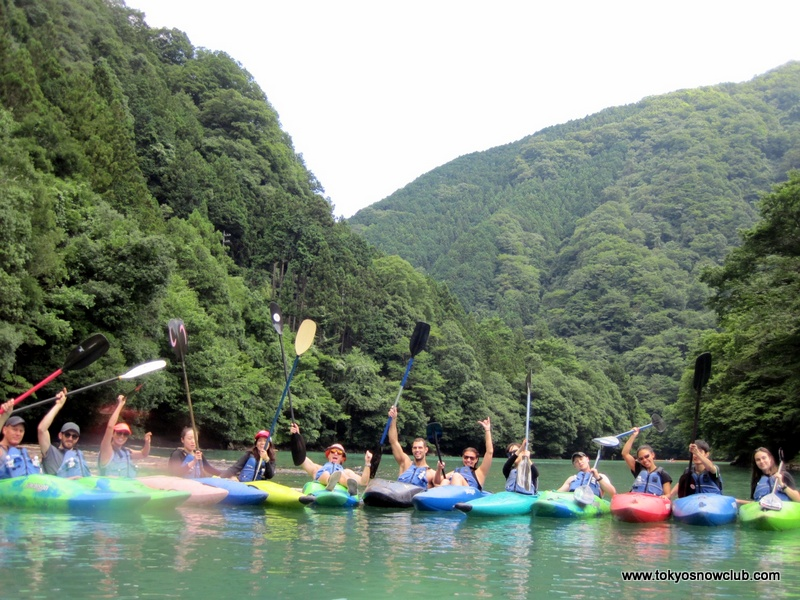 Kayaking in Okutama